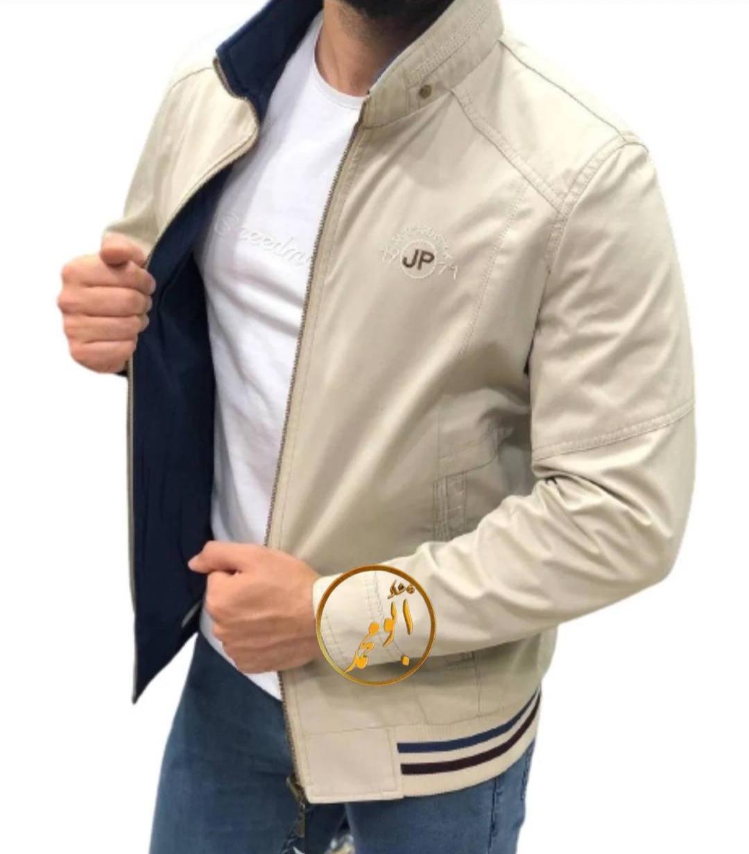 کاپشن مردانه دورو مارک جیپ سفیداستخونی آبی