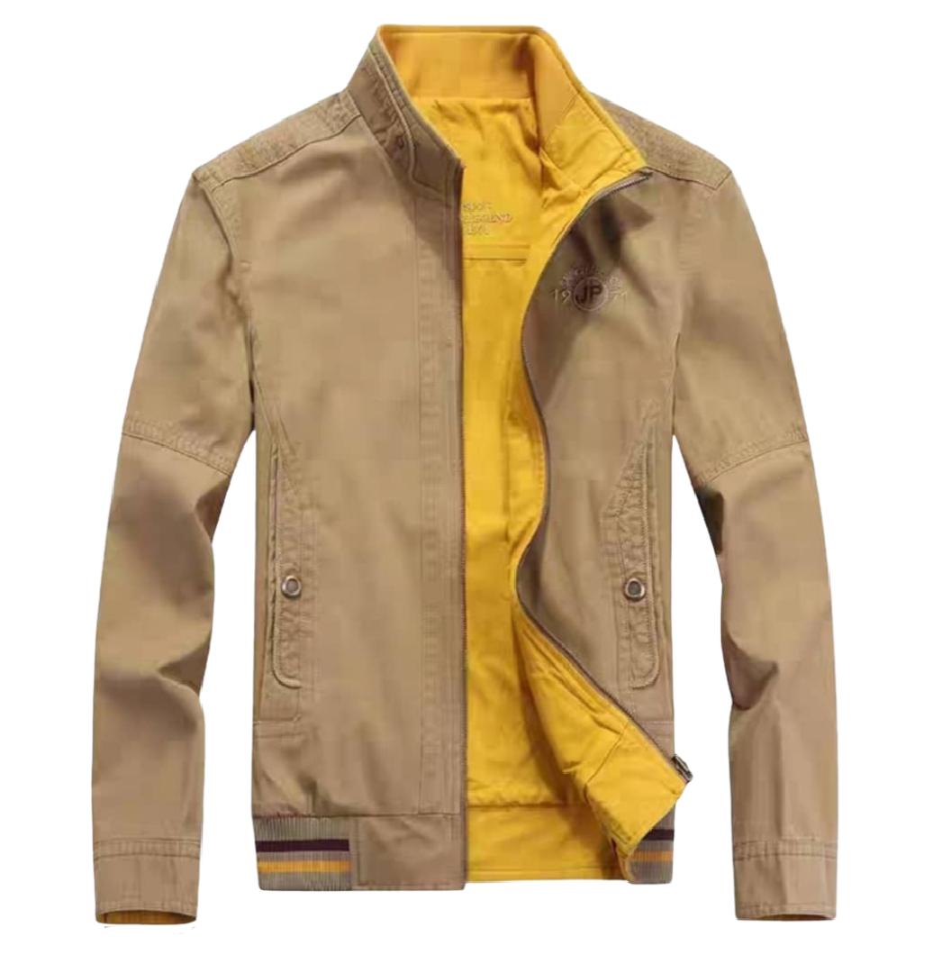 کاپشن مردانه دورو مارک جیپ رنگ نخودی زرد