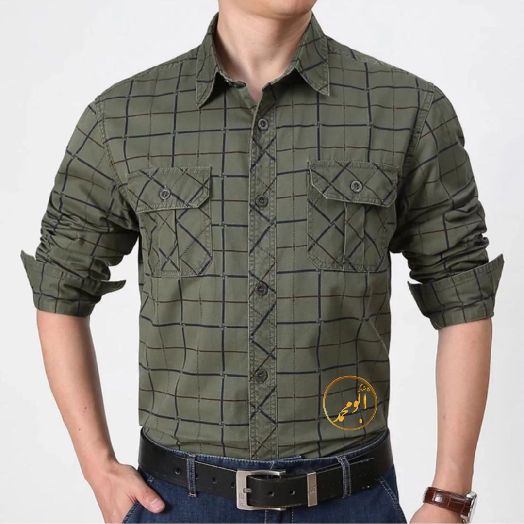 پیراهن مردانه دوجیب چهارخونه مارک اوتودور