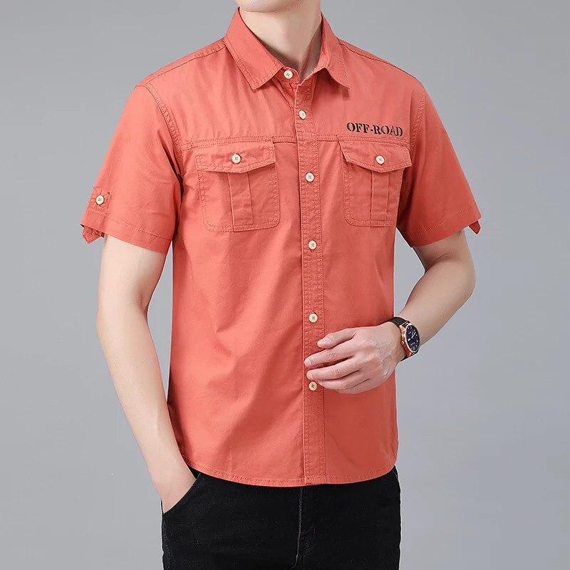 پیراهن دوجیب ساده