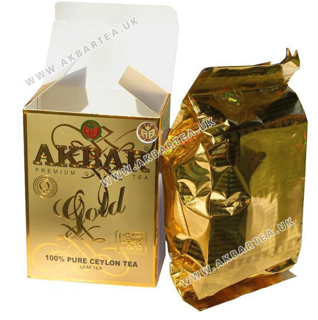 چای اکبر گلد طلایی