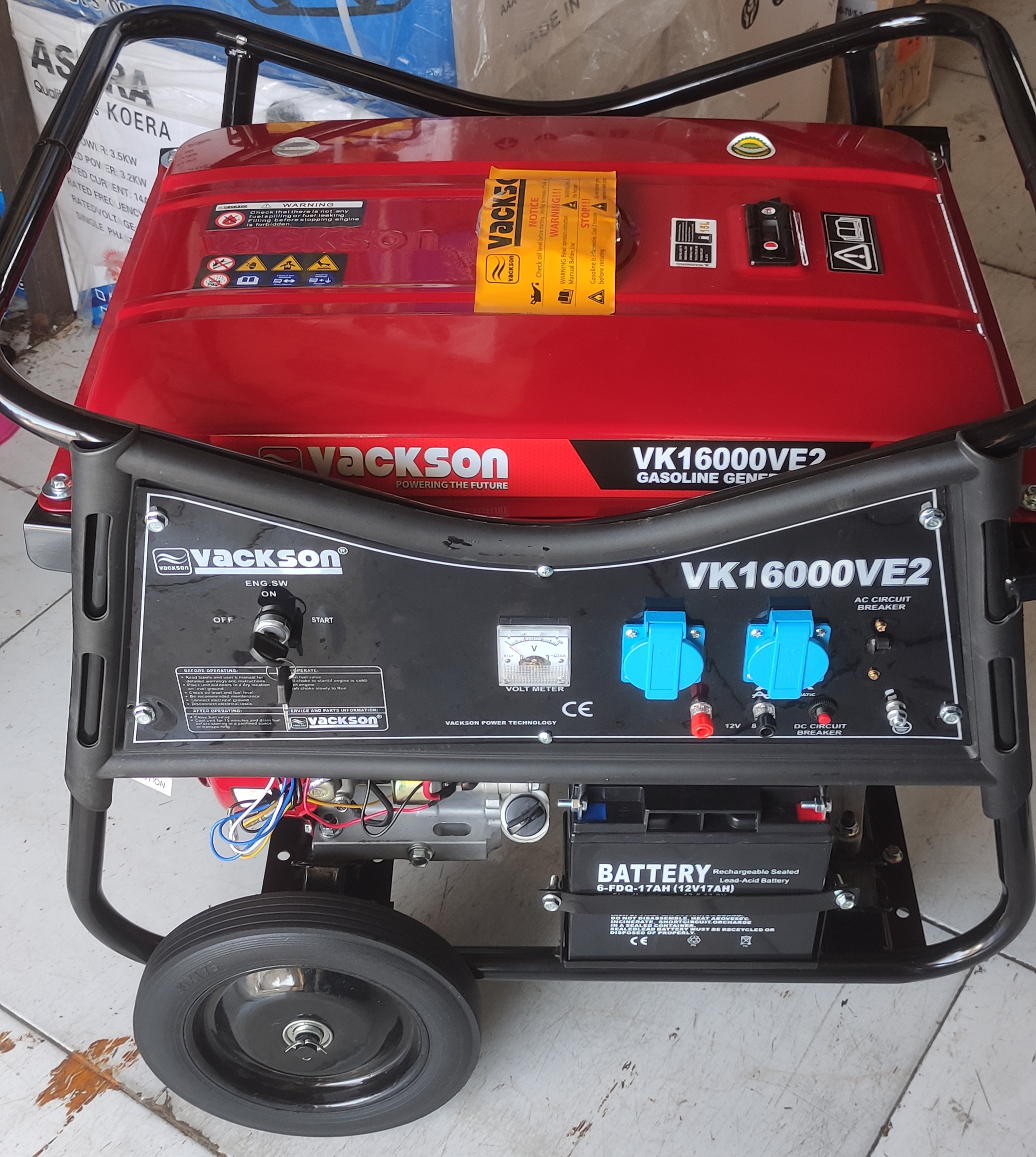 موتور برق واکسون 6/5کیلو وات