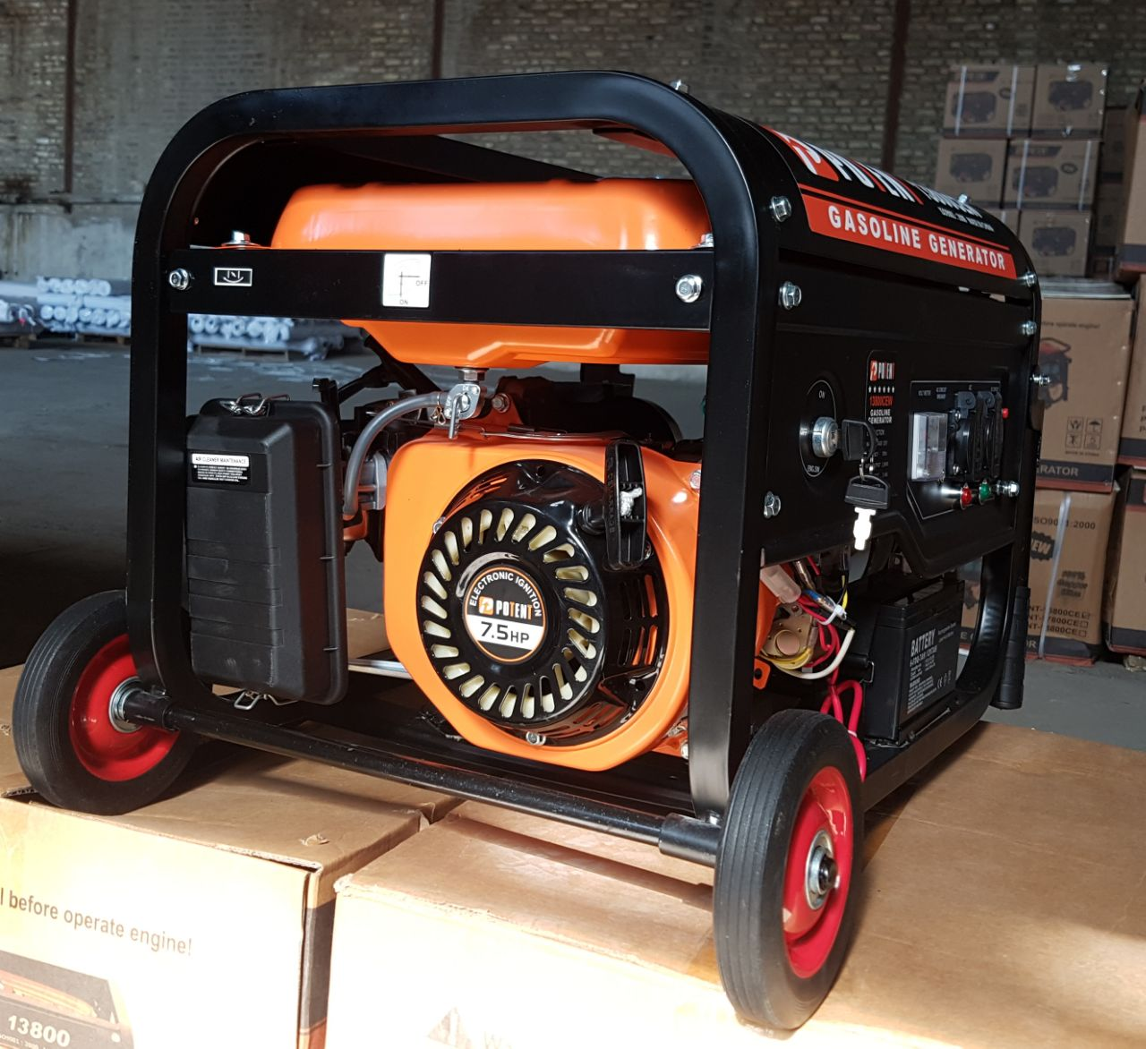 موتور برق 3کیلو وات استارتی چرخدار سون