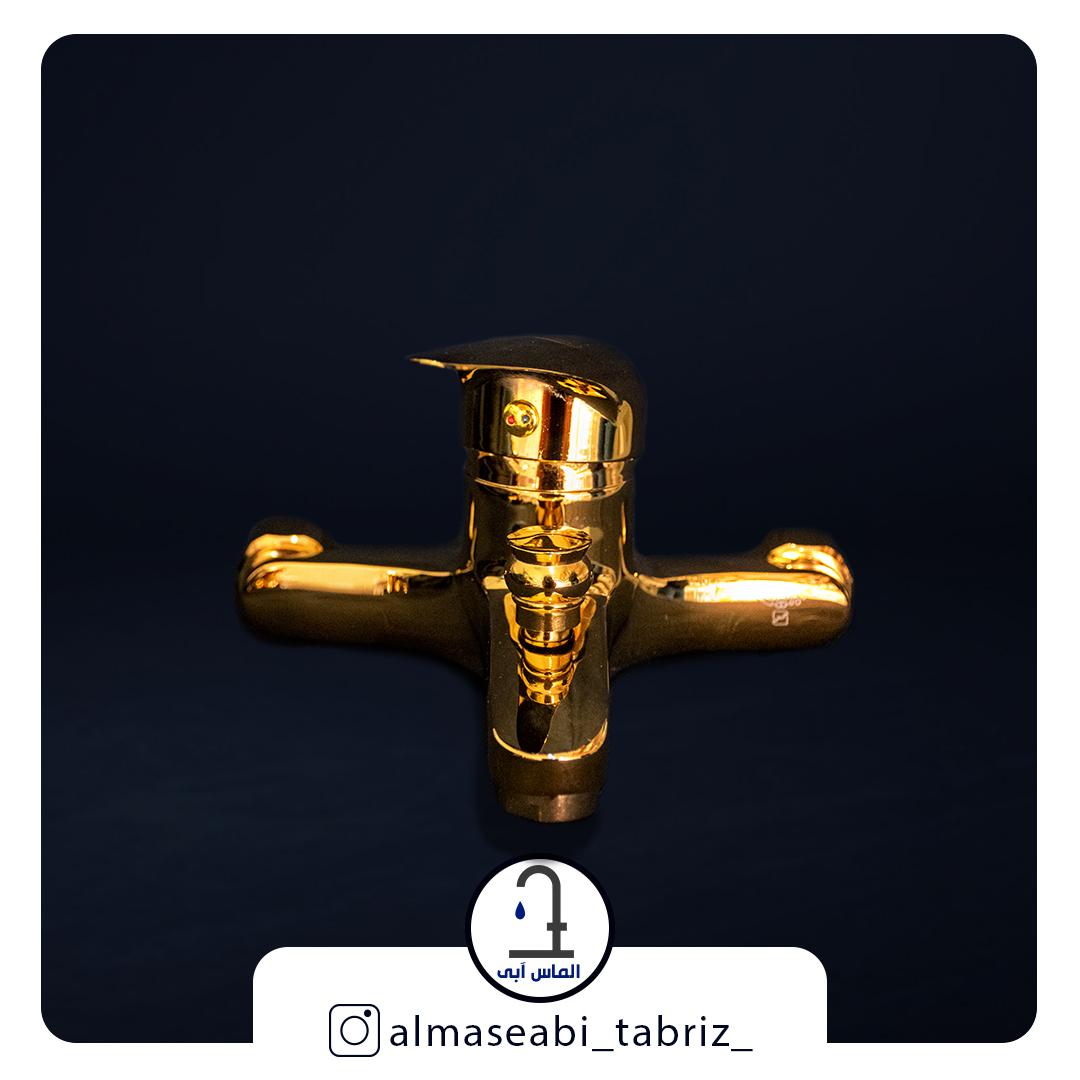 شیر حمام طلایی برلیان مدل ارس