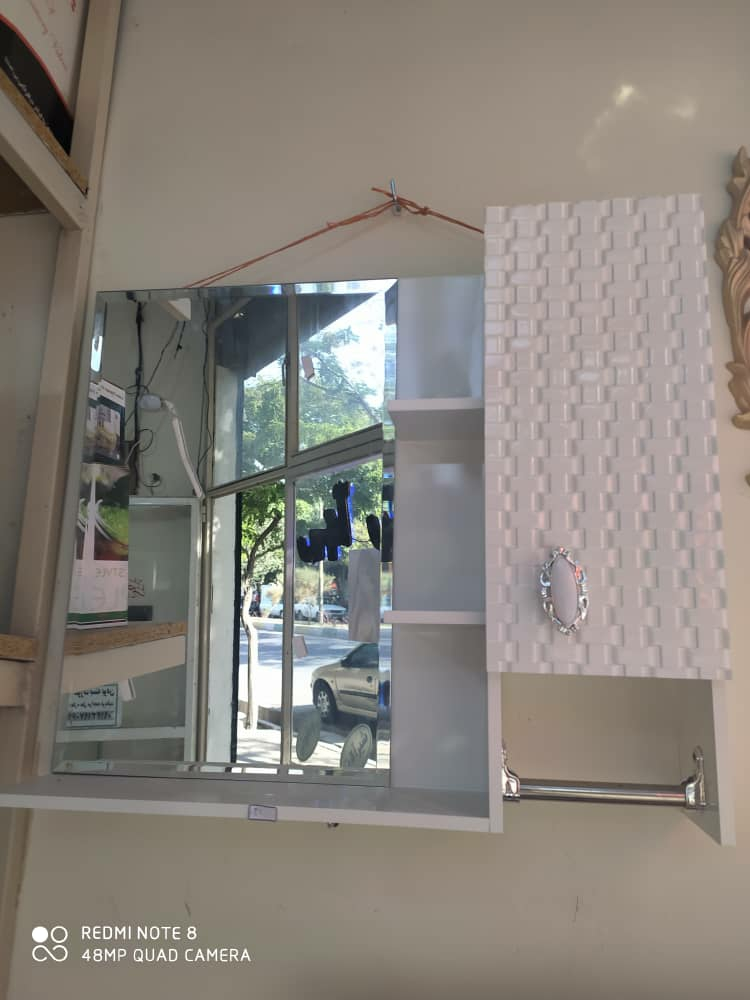 آینه باکس pvc ضدآب سرویس بهداشتی و حمام مدل حصیری