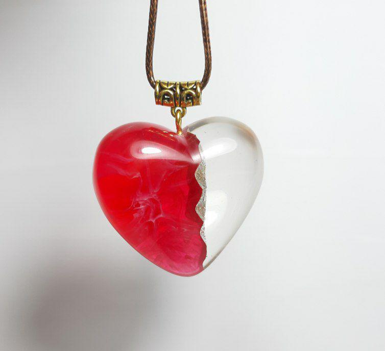 گردنبند سه بعدی طرح قلب