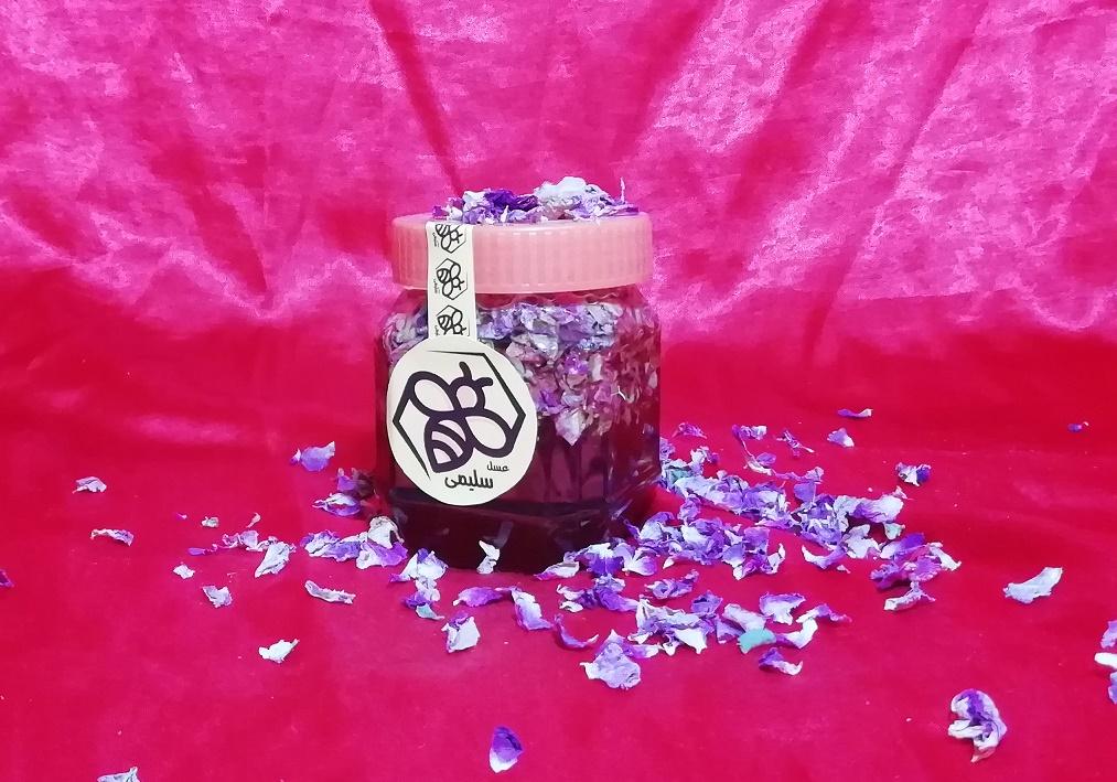 عسل شهد 500 گرمی با گل محمدی