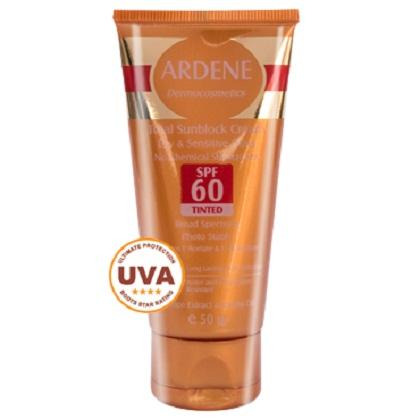 کرم ضد آفتاب فاقد جاذب های شیمیایی SPF 60 رنگی