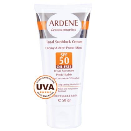 کرم ضد آفتاب فاقد چربی SPF 50 آردن