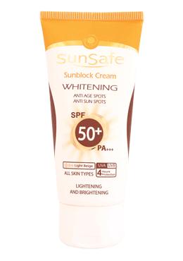کرم ضد آفتاب و روشن کننده +SPF50 سان سیف