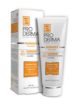 کرم ضد آفتاب و مرطوب کننده با SPF60 فاقد رنگ پرودرما