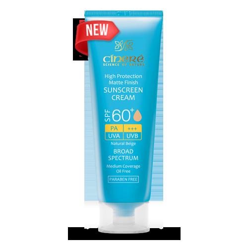 کرم ضد آفتاب رنگی +SPF60 سینره بژ طبیعی