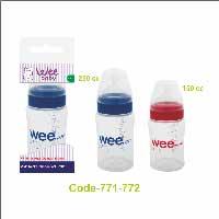 بطری شیرخوری پروپیلن دهانه عریض ارتودنسی250 میل وی بیبی Wee Baby
