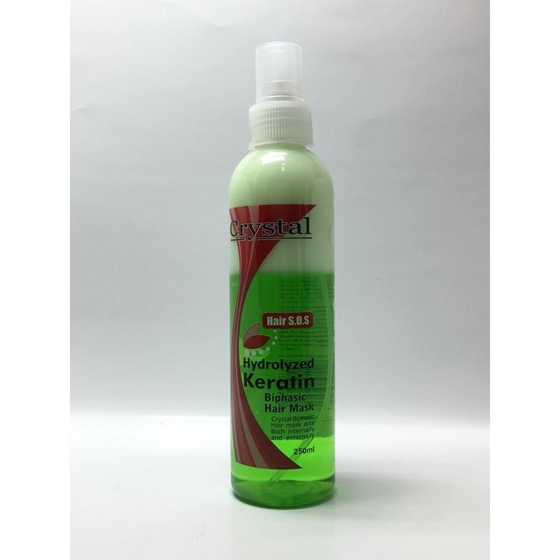 اسپری دوفاز سبز کریستال Crystal Hydrolzed Ceratin