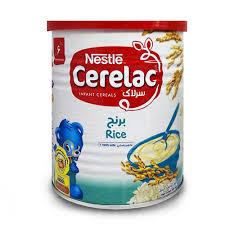 سرلاک برنج به همراه شیر نستله