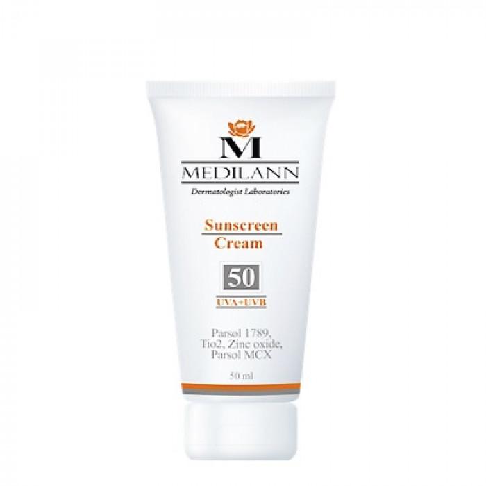 کرم ضد آفتاب  رنگی SPF50 مدیلن