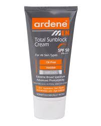 کرم ضد آفتاب آقایان آردن مدل Total SPF50