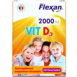 کپسول ویتامین د3 2000 فیشر فلکسان