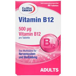 قرص ویتامین ب12 60 عددی یورو ویتال