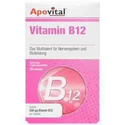 قرص ویتامین ب12 500 میکروگرم 30 عددی آپوویتال