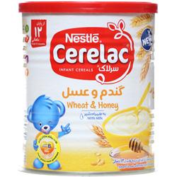 پودر سرلاک گندم و عسل به همراه شیر نستله