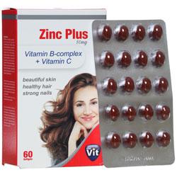 سافت ژل زینک پلاس ویتامین ب کمپلکس و ویتامین ث استار ویت
