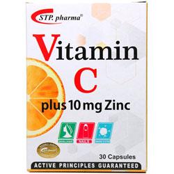کپسول ویتامین سی همراه با زینک 10 میلی گرم اس تی پی فارما