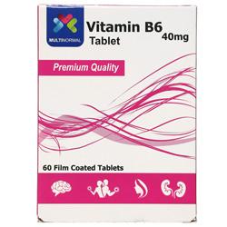 قرص ویتامین ب6 40 میلی گرم مولتی نرمال