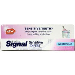 خمیر دندان سفید کننده دندان های حساس سیگنال