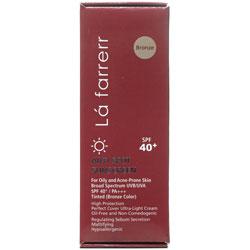کرم ضد آفتاب و ضدلک رنگی پوست های چرب و مستعد آکنه +SPF40 لافارر