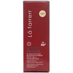 کرم ضد آفتاب و ضد لک رنگی پوست های خشک و معمولی +SPF40 لافارر