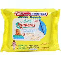 دستمال مرطوب کننده کودک آنتی باکتریال پنبه ریز
