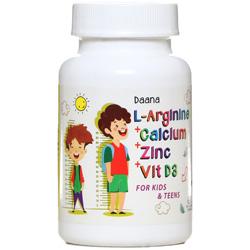 سافت ژل ال آرژنین پلاس کلسیم پلاس زینک پلاس ویتامین د3 برای کودکان و نوجوانان دانا