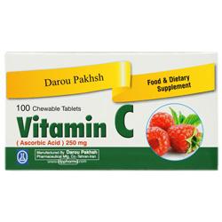 قرص جویدنی ویتامین ث جویدنی 100 عددی داروپخش