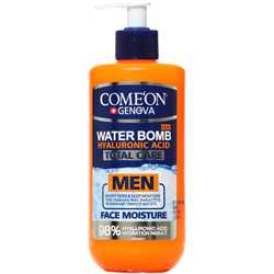 کرم آبرسان صورت مردانه واتر بمب حاوی کیوتن و ویتامین ای SPF15 کامان