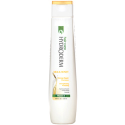 شامپو استحکام بخش و ترمیم کننده مو حاوی شیر و عسل هیدرودرم