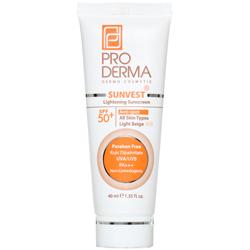 کرم ضد آفتاب و روشن کننده لک های پوست با SPF50 پرودرما