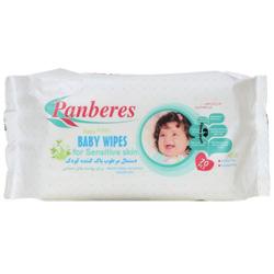 دستمال مرطوب پاک کننده کودک پوست های حساس پنبه ریز