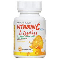 قرص جویدنی ویتامین سی 500 میلی گرمی تارا گنجینه سلامت تارا