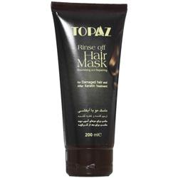 ماسک مو با آبکشی مناسب موی آسیب دیده توپاز