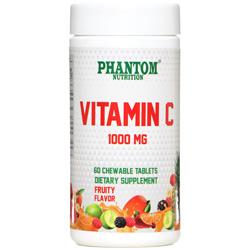 قرص ویتامین ث میوه ای 1000 میلی گرم 60 عددی جویدنی فانتوم نوتریشن