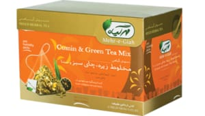 دمنوش کیسه ای زیره، چای سبز و سنا (تناسب - لاغری) مهرگیاه