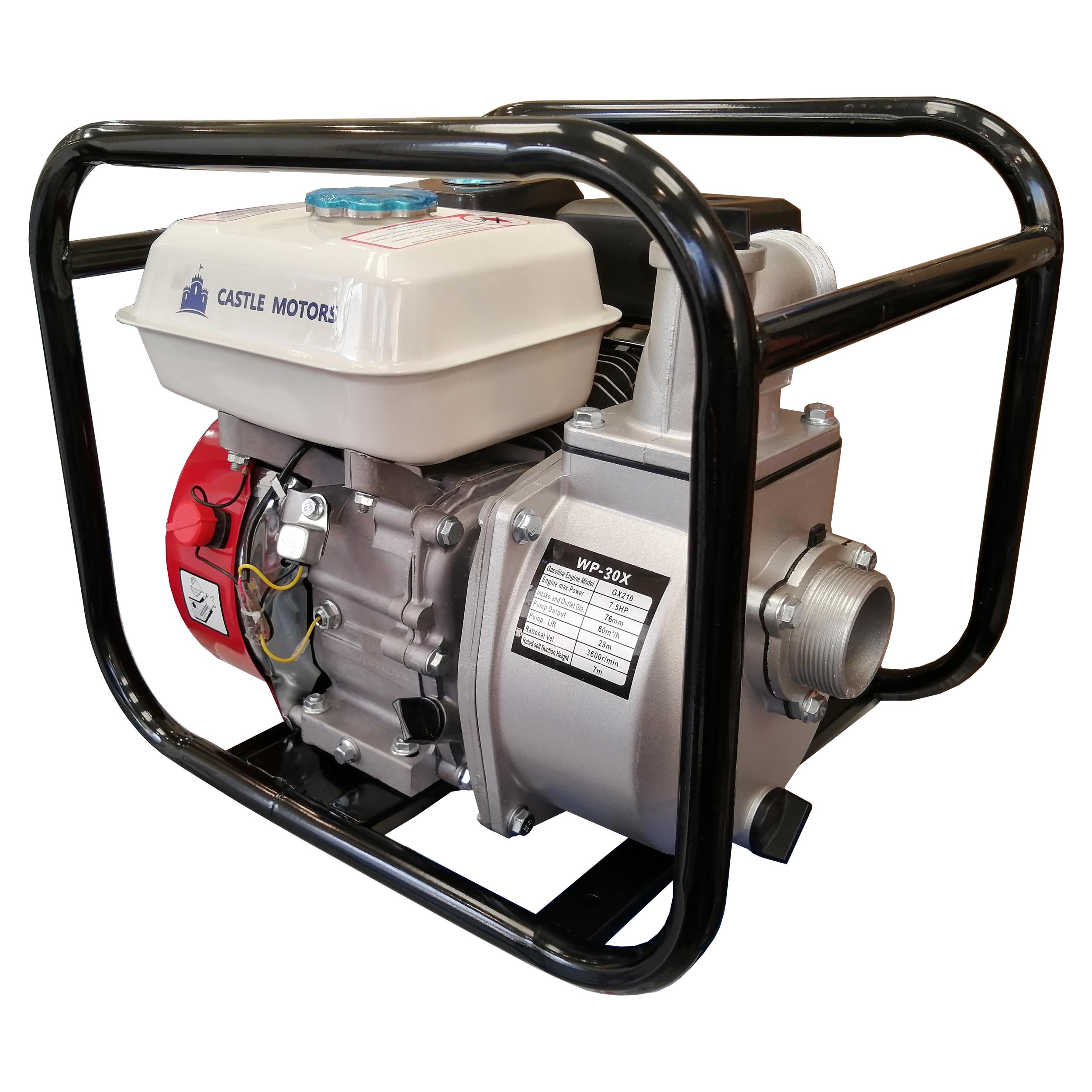موتور پمپ  آب بنزینی کستل موتورز مدل WP-30X