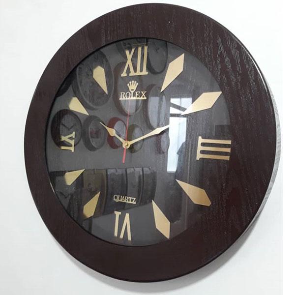 ساعت دیواری چوبی گرد