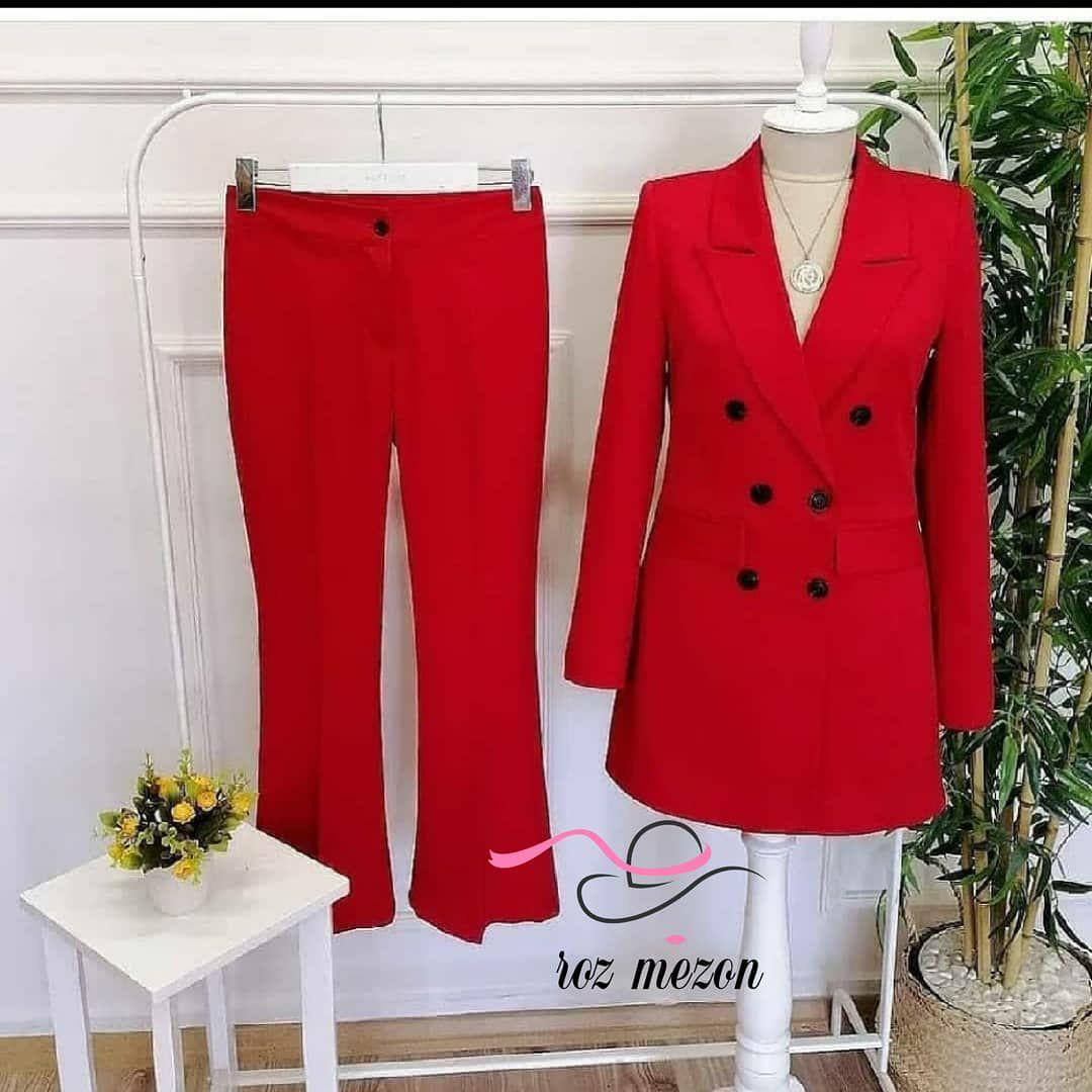 کت و شلوار قرمز