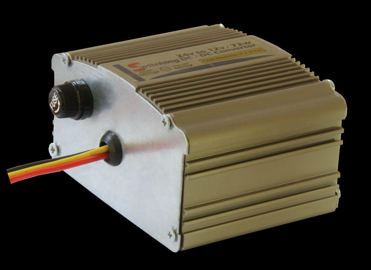 مبدل ولتاژ 24 به 12 ولت 6 آمپر