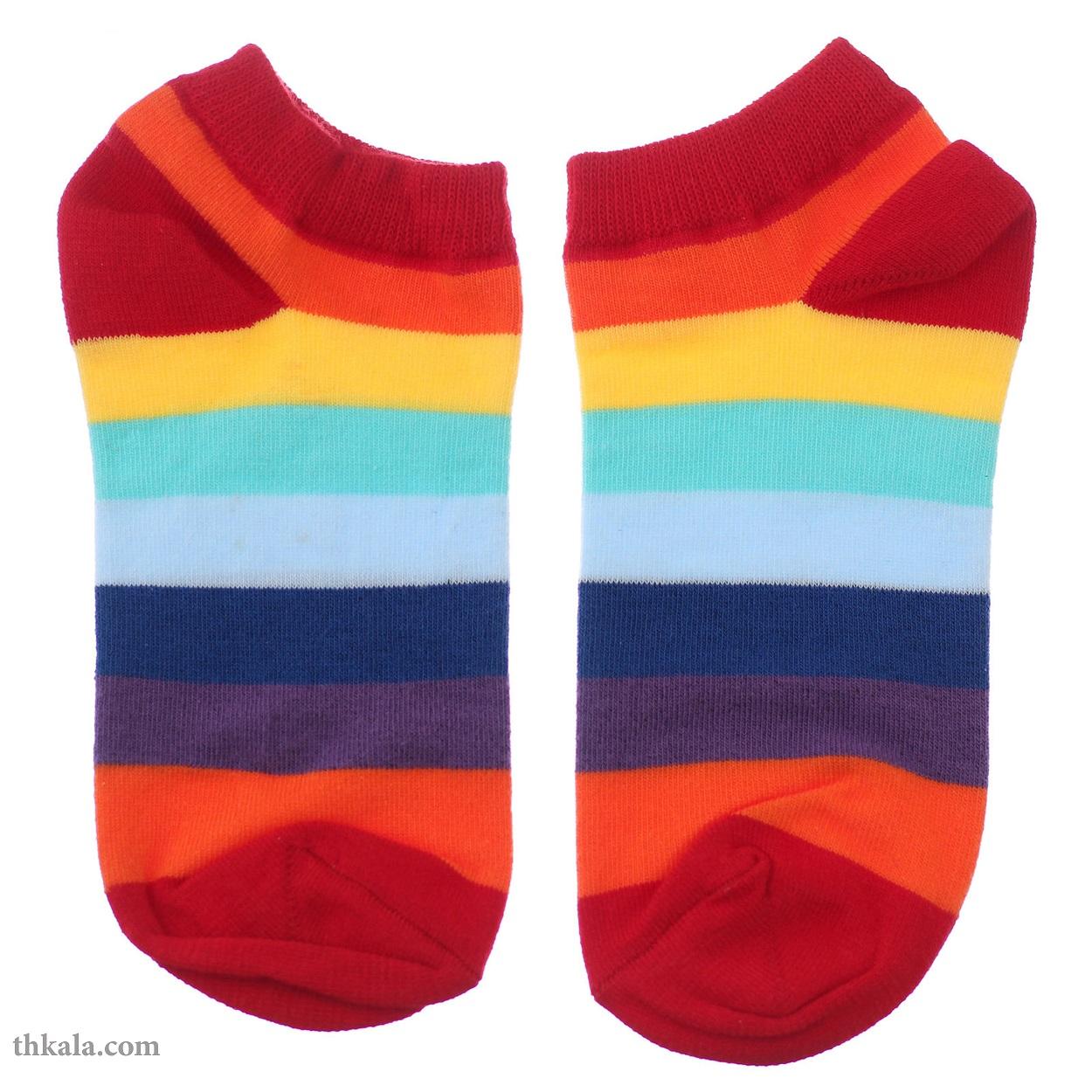 جوراب زنانه مدل رنگین کمان